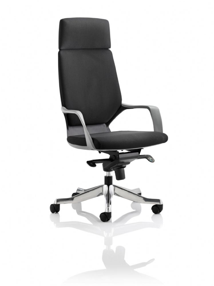 Xenon Executive Black Shell Chair High Backrest Arms Both Fabric & Leather Options available